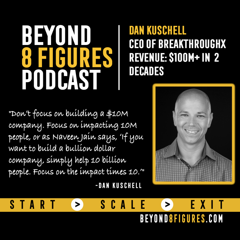 Dan Kuschell on Beyond 8 Figures Podcast