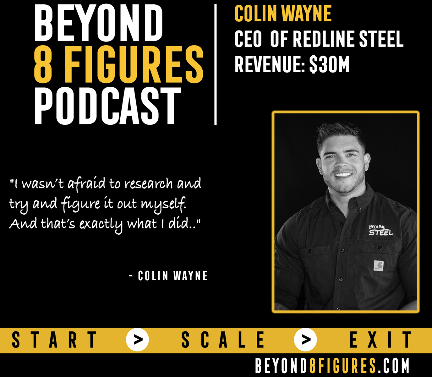 $30M in annual revenue- Colin Wayne, Redline Steel