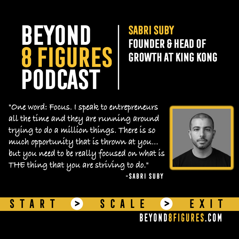 Sabri Suby, King Kong on Beyond 8 Figures Podcast