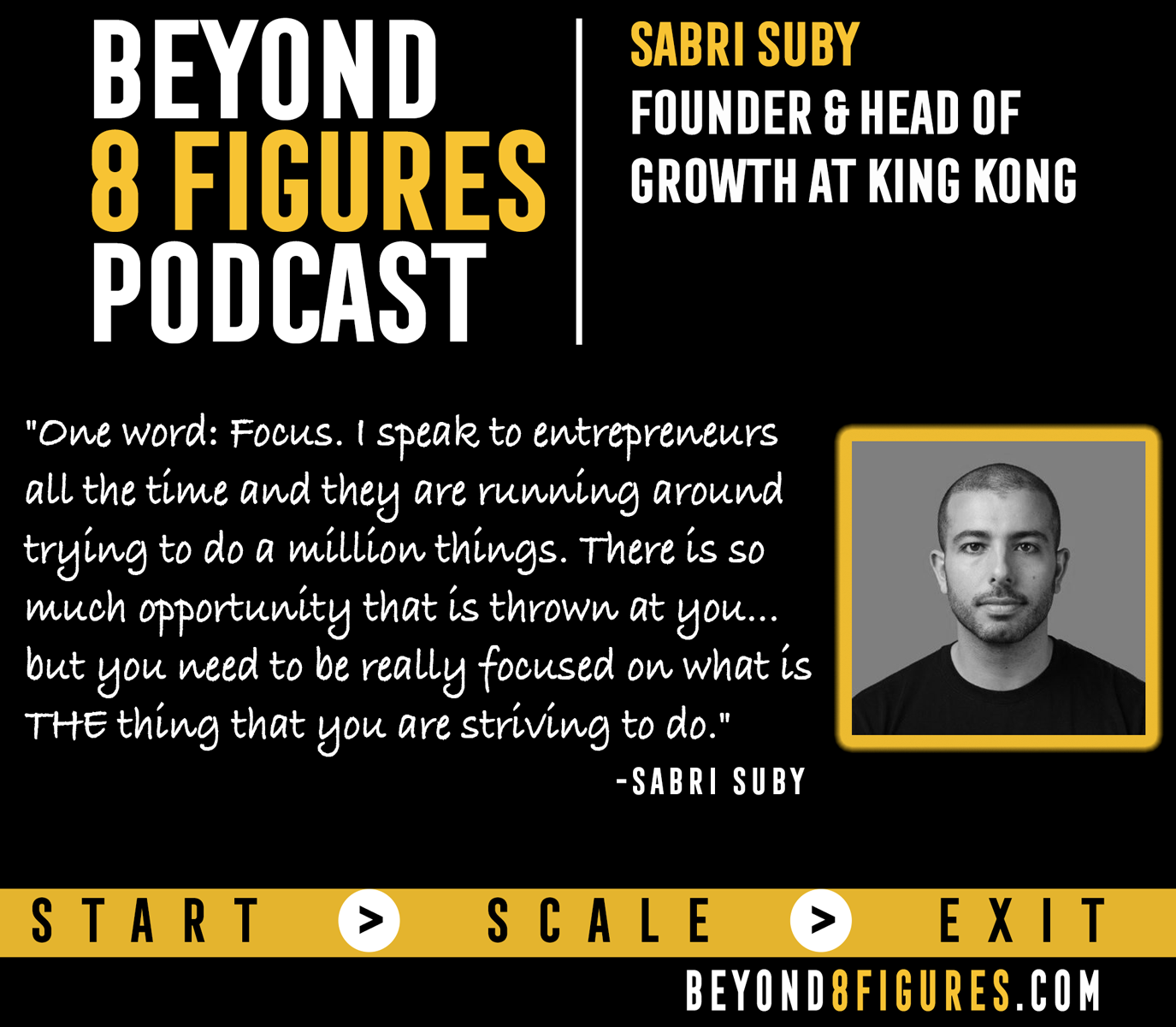 $10M+ in annual revenue- Sabri Suby, King Kong