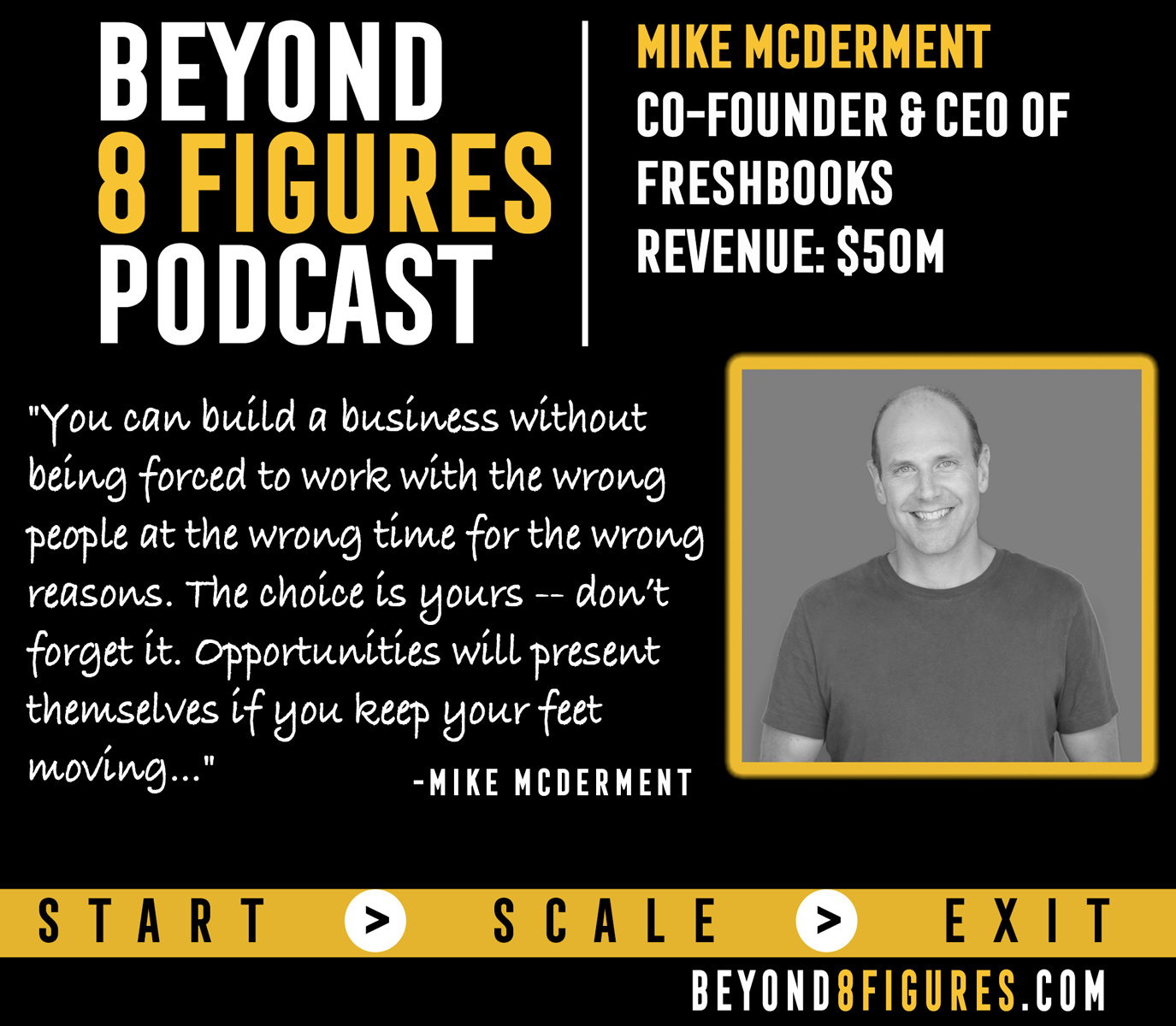 $50M in annual revenue – Mike McDerment, Freshbooks