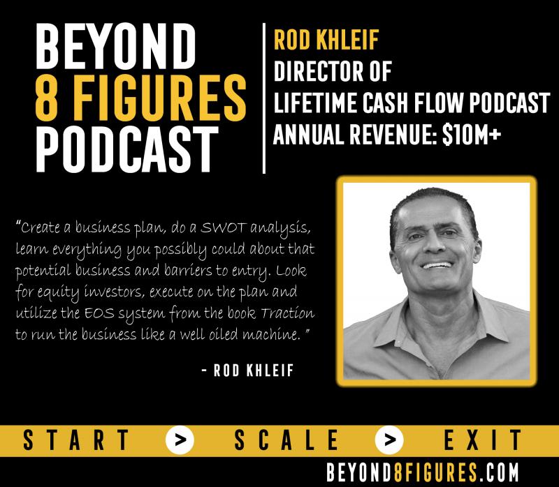 Rod Khleif, Lifetime Cash Flow Podcast on Beyond 8 Figures