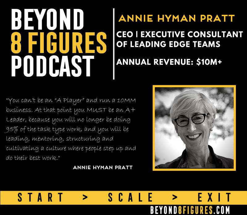 Annie Hyman Pratt, Leading Edge Teams, Annual Revenue $10M+